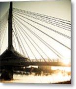 St. Boniface Bridge At Winter Sunrise Metal Print