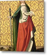 St. Catherine Of Alexandria Metal Print by Josse Lieferinxe