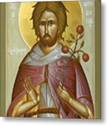 St Euphrosynos The Cook Metal Print by Julia Bridget Hayes