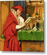 St. Jerome In His Study  Metal Print