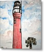 St Johns River Lighthouse Florida Metal Print
