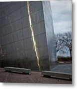 St Louis Arch - Scale Metal Print
