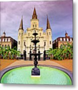 St. Louis Cathedral - New Orleans - Louisiana Metal Print