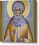 St Moses The Ethiopian Metal Print by Julia Bridget Hayes
