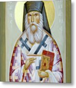 St Nektarios Of Aigina II Metal Print by Julia Bridget Hayes