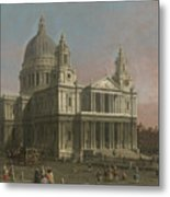 St. Paul's Cathedral Metal Print by Giovanni Antonio Canaletto