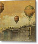 St Petersburg With Air Baloons Metal Print