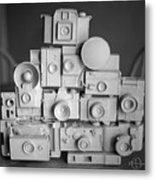 Stack O Cameras Metal Print