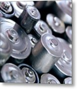 Stack Of Batteries Metal Print