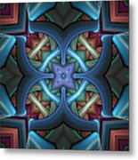 Stacked Kaleidoscope Metal Print