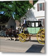 Stage Coach Metal Print