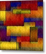 Stained Glass Wall Metal Print
