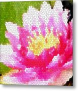 Stained Glass Waterlily Metal Print