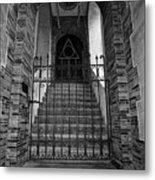 Stairs Beyond B-w Metal Print