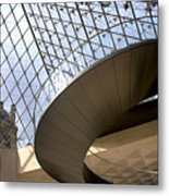 Stairs In Louvre Museum. Paris.  Metal Print by Bernard Jaubert