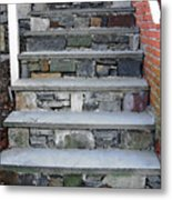 Stairs To The Plague House Metal Print