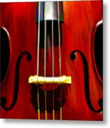 Stand Up Bass Metal Print