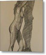 Standing Nude 1 Metal Print