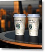 Starbucks At The Top Metal Print