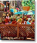 Starbucks Cafe On Monkland Montreal Cityscene Metal Print