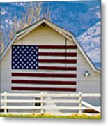 Stars Stripes And Barns Metal Print