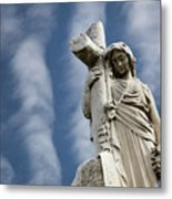 Statue Cross Metal Print