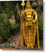 Statue Of Murugan Metal Print by Adrian Evans