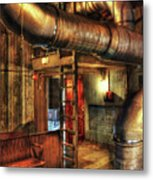 Steampunk - Where The Pipes Go Metal Print