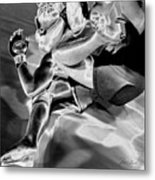 Steel Men Fighting 4 Metal Print