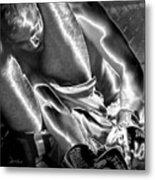Steel Men Fighting 6 Metal Print