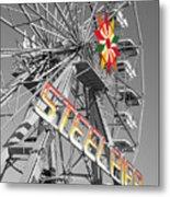 Steel Pier Metal Print