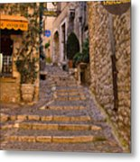 Steep Street In St Paul De Vence Metal Print