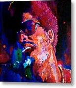 Stevie Wonder Metal Print by David Lloyd Glover