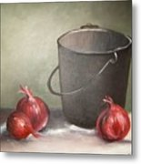 Still Life Onions Metal Print by Nellie Visser