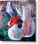 Still Life With A Red Flower Metal Print