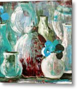 Still Life With Blue Flowers 2 Metal Print