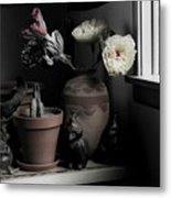 Still Life With Cactus Metal Print