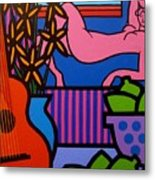 Still Life With Matisse  II Metal Print
