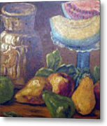 Still Life With Pears And Melons Metal Print