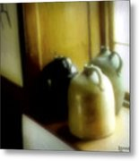 Still Life With Stoneware Metal Print