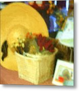 Still Life With Straw Hat Metal Print