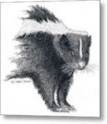 Stiped Skunk Metal Print