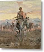 Stolen Horses Metal Print by Charles Marion Russell