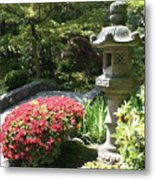 Stone Bridge With Asian Lantern Metal Print