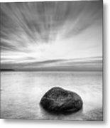 Stone In The Sea Metal Print