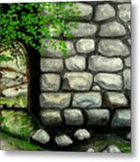 Stone Tunnel Metal Print