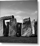Stonehenge No 1 Bw Metal Print