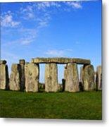 Stonehenge On A Clear Blue Day Metal Print by Kamil Swiatek
