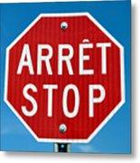 Stop Sign. Metal Print
