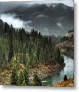 Storm In Snake River Canyon Metal Print